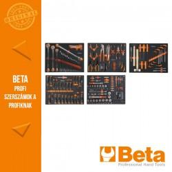 Beta 5945E/2021 271 darabos szerszámkészlet puha EVA habszivacs tálcában Univerzális alkalmazásra