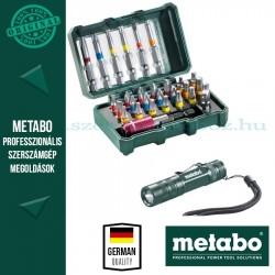 Metabo BitBox 29 részes bitkészlet + Metabo mini zseblámpa