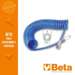 Beta 1915C 95 Shore poliuretán spiráltömlő 12 méterre kihúzható, 11 mm átmérő