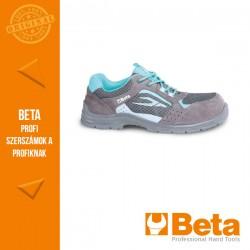 Beta 7212LG perforált női hasítottbőr cipő, mesh betéttel