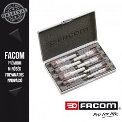 FACOM MICRO-TECH Műszerész csavarhúzó készlet, lapos, phillips és pozidrív, 8db-os