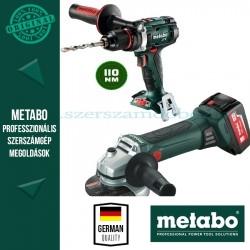 Metabo W18 LTX 125 Akkus sarokcsiszoló + BS 18 LTX Impuls Alapgép