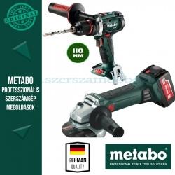 Metabo W 18 LTX 125 Akkus sarokcsiszoló + BS 18 LTX Impuls Alapgép