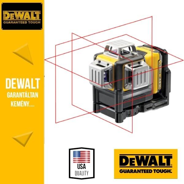 DeWalt DCE089D1R-QW 360°-os önbeálló vonallézer (piros lézer)