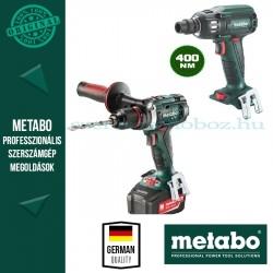 Metabo BS 18 LTX Impuls fúró-csavarozó + SSW 18 LTX BL 400 Alapgép