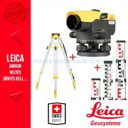 Leica NA332 Optikai szintező + állvány + szintezőléc