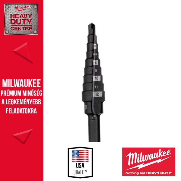 Milwaukee 4-12mm/1mm Lépcsős fúró