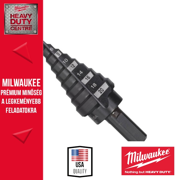 Milwaukee 4-20mm Lépcsős fúró