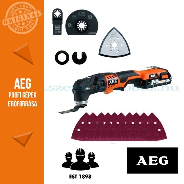 AEG OMNI 18C LI-202BKIT1X Akkus multifunkciósgép szett