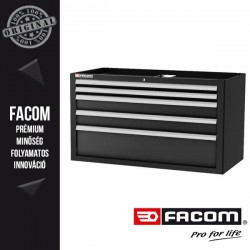 FACOM JETLINE+ Extra széles 5 fiókos szerszámos szekrény, alsó egység, fekete