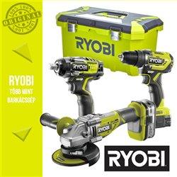 """Ryobi Power Pack 18V Akkus szett (ütvefúró-csavarbehajtó+sarokcsiszoló+ütvecsavarozó) 1/2"""""""