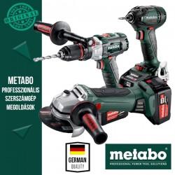 Metabo Power Pack 18V Akkus szett (ütvefúró-csavarbehajtó+ütvecsavarozó+sarokcsiszoló)