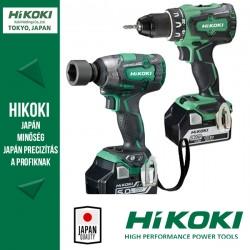 Hitachi (HiKOKI) KC18DPL akkus gépszett (WR18DBDL2 ütvecsavarozó + DS18DBSL fúró-csavarozó)