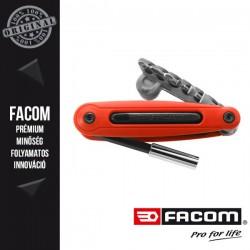 FACOM Bittartó készlet, lapos és pozidrív, 6db-os