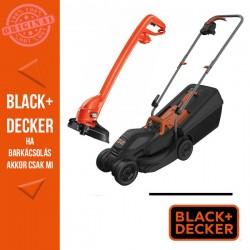 BLACK & DECKER Fűnyíró 1000W 32 cm, standard fogantyú + GL250 250W, 23cm fűszegélyvágó