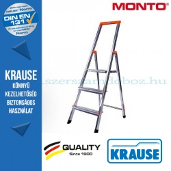 Krause Monto Solidy lépcsőfokos állólétra 3 fokos