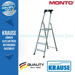 Krause Monto Safety lépcsőfokos állólétra 4 fokos