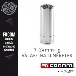 """FACOM Hosszú dugókulcsok, 3/8"""", 12 pontos, metrikus méretek, 7-24mm"""