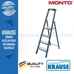 Krause Monto Securo lépcsőfokos állólétra, eloxált 4 fokos
