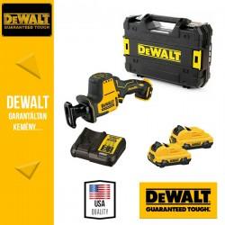 DEWALT DCS312D2-QW XR Kompakt Kardfűrész, kofferben (2x2,0Ah/12V akkuval és töltővel)
