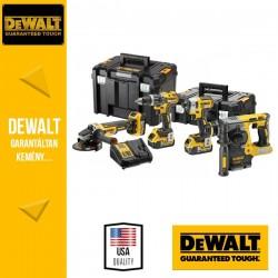 DeWalt DCK422P3T-QW 18V XR Szénkefementes 4 részes combo pack 3x5,0Ah TSAK