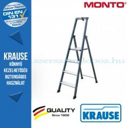 Krause Monto SePro S lépcsőfokos állólétra, eloxált 4 fokos