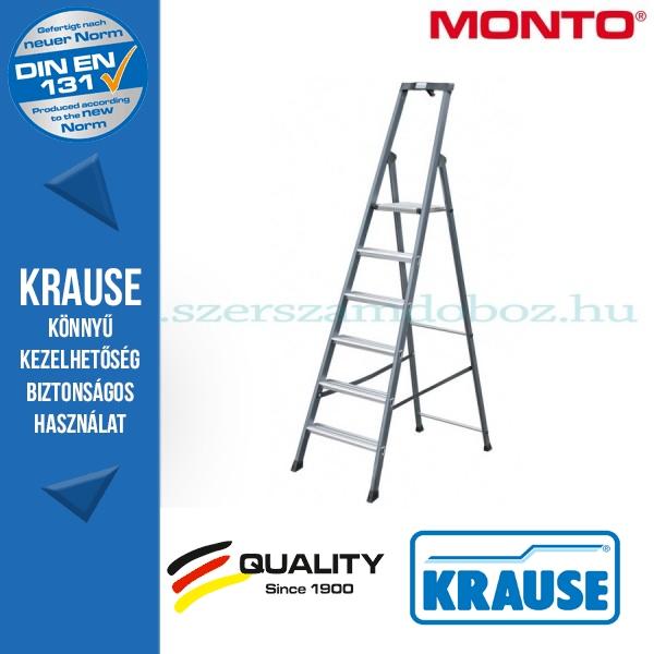 Krause Monto SePro S lépcsőfokos állólétra, eloxált  6 fokos