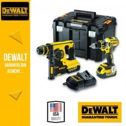 DeWalt DCK273M2T-QW 187V XR 2 gépes Combo Pack 2x4,0Ah akku + töltő