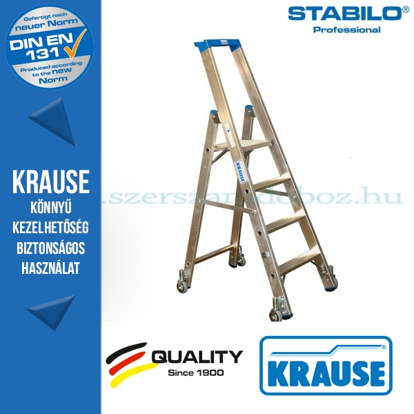 Krause Stabilo Professional gurítható lépcsőfokos állólétra 4 fokos