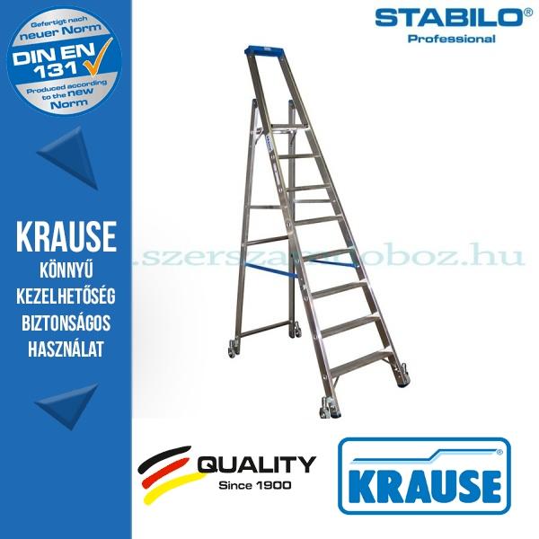 Krause Stabilo Professional gurítható lépcsőfokos állólétra 8 fokos