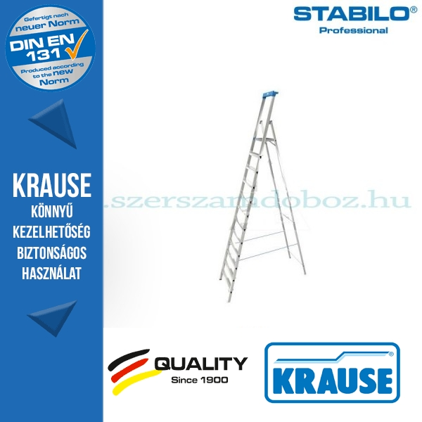 Krause Stabilo Professional gurítható lépcsőfokos állólétra 12 fokos