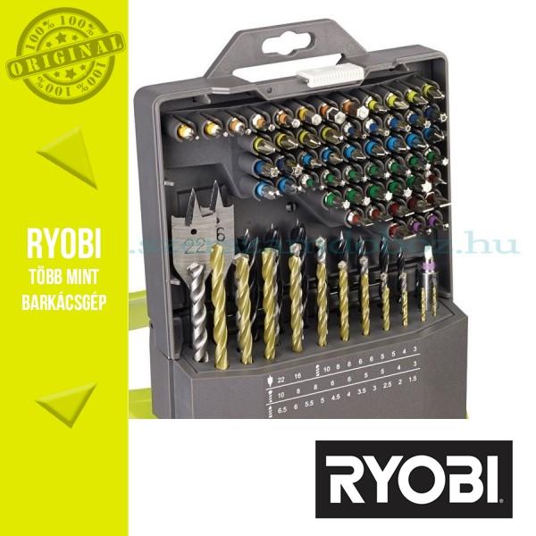 Ryobi RAK86MIX C 86 db-os fúrószár + bit készlet