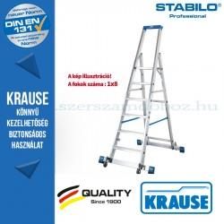 Krause Stabilo Professional gurítható lépcsőfokos állólétra kitámasztóval 8 fokos