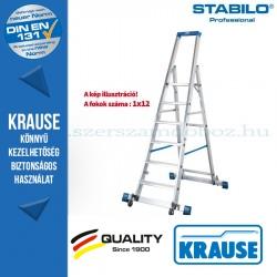 Krause Stabilo Professional gurítható lépcsőfokos állólétra kitámasztóval 12 fokos