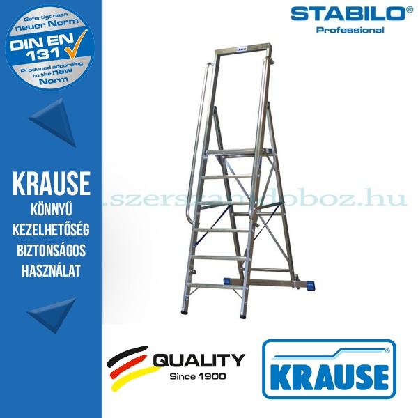 Krause Stabilo Professional lépcsőfokos állólétra nagy dobogóval 6 fokos