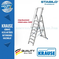 Krause Stabilo Professional lépcsőfokos állólétra nagy dobogóval 10 fokos