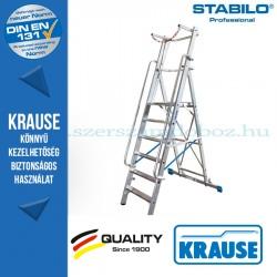Krause Stabilo Professional lépcsőfokos állólétra nagy dobogóval és kapaszkodókerettel 6 fokos