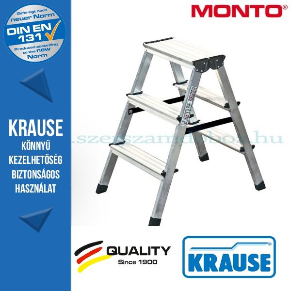 Krause Monto lépcsőfokos két oldalon járható létra Dopplo 2x3 fokos