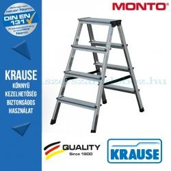 Krause Monto lépcsőfokos két oldalon járható létra Dopplo 2x4 fokos