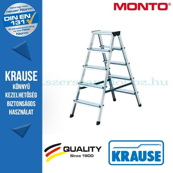 Krause Monto lépcsőfokos két oldalon járható létra Dopplo 2x5 fokos