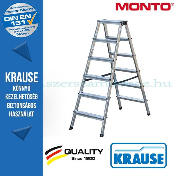 Krause Monto lépcsőfokos két oldalon járható létra Dopplo 2x6 fokos