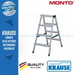 Krause Monto lépcsőfokos két oldalon járható létra SePro D eloxált 2x4 fokos
