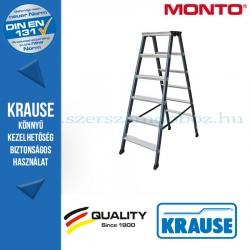 Krause Monto lépcsőfokos két oldalon járható létra SePro D eloxált 2x6 fokos