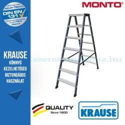 Krause Monto lépcsőfokos két oldalon járható létra SePro D eloxált 2x7 fokos
