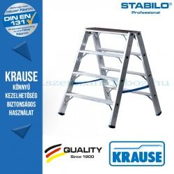 Krause Stabilo Professional lépcsőfokos két oldalon járható létra fafelülettel 2x4 fokos