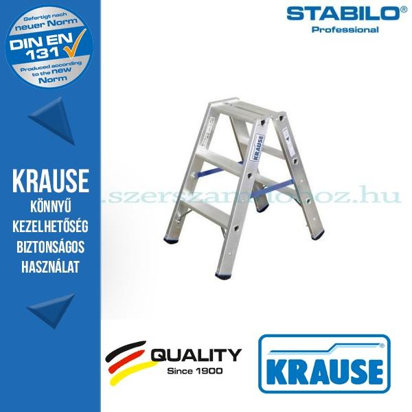 Krause Stabilo Professional lépcsőfokos két oldalon járható létra 2x3 fokos