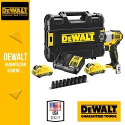 """DeWalt DCF902D2K-QW 12V Akkus szénkefementes 3/8""""-os Ütvecsavarozógép 2 x 2Ah akkuval + töltővel"""