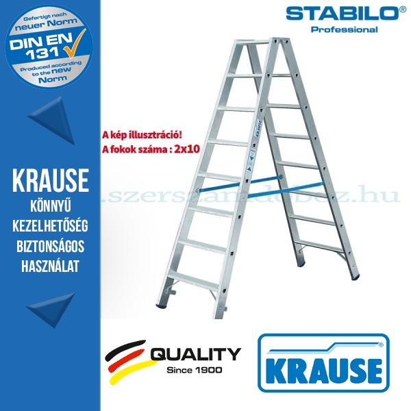 Krause Stabilo Professional lépcsőfokos két oldalon járható létra 2x10  fokos
