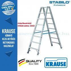 Krause Stabilo Professional lépcsőfokos két oldalon járható létra 2x12  fokos