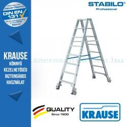 Krause Stabilo Professional lépcsőfokos két oldalon járható létra, gurítható 2x8 fokos
